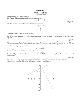 Math 1210-2 Quiz 1 Solutions