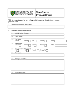 New Course Proposal Form