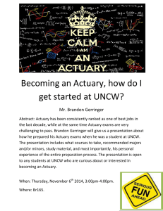 Becoming an Actuary, how do I get started at UNCW?