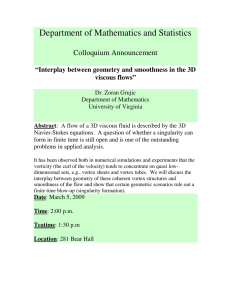 Department of Mathematics and Statistics Colloquium Announcement