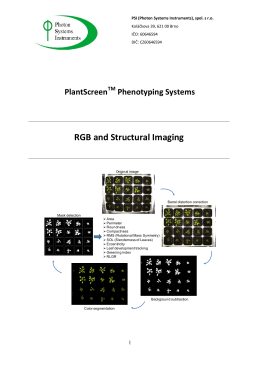 RGB and Structural Imaging  PlantScreen Phenotyping Systems