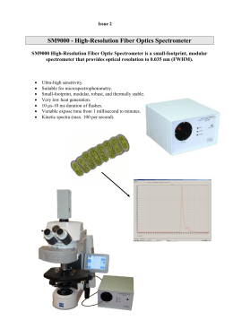SM9000 - High-Resolution Fiber Optics Spectrometer