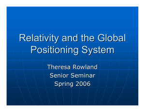 Relativity and the Global Positioning System Theresa Rowland Senior Seminar