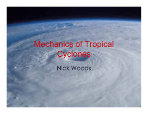 Mechanics of Tropical Cyclones Nick Woods