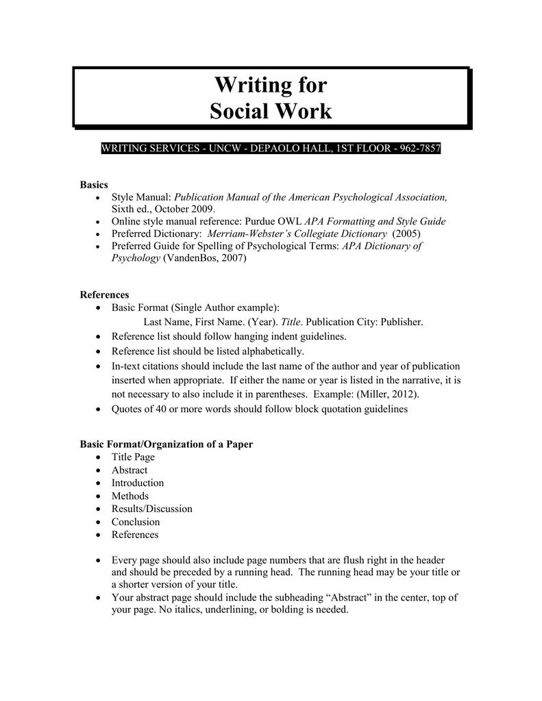 Social work essay writers