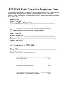 EECS Ph.D. Public Presentation Requirement Form