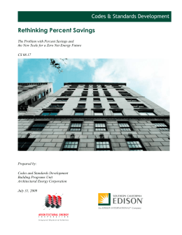 Rethinking Percent Savings Codes & Standards Development