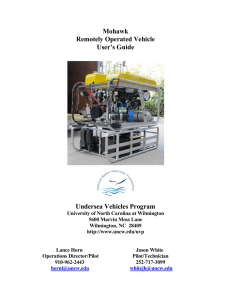 Mohawk Remotely Operated Vehicle User's Guide Undersea Vehicles Program