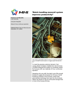 """Batch handling monorail system improves productivity""  Features and Benefits"