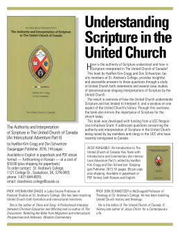 Understanding Scripture in the United Church H