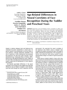 Age-Related Differences in Neural Correlates of Face Leslie J. Carver