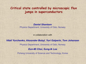 Critical state controlled by microscopic flux jumps in superconductors