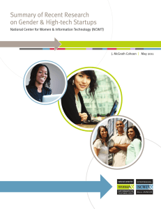 Summary of Recent Research on Gender & High-tech Startups |