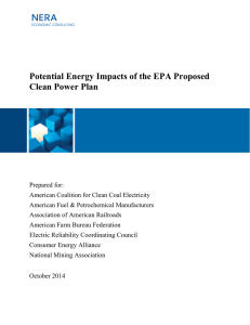 Potential Energy Impacts of the EPA Proposed Clean Power Plan