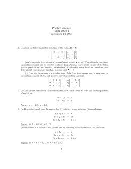 Practice Exam II Math 2250-4 November 14, 2004