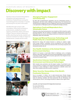 Discovery with impact SIGNATURE AREAS OF RESEARCH: