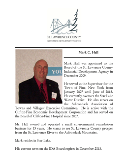 Mark C. Hall Mark Hall was appointed to the