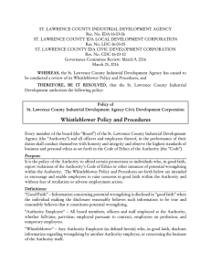 ST. LAWRENCE COUNTY INDUSTRIAL DEVELOPMENT AGENCY Res. No. IDA-16-03-06
