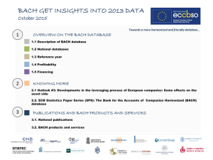 BACH GET INSIGHTS INTO 2013 DATA October 2015 1