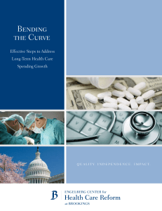 Bending the Curve Effective Steps to Address Long-Term Health Care