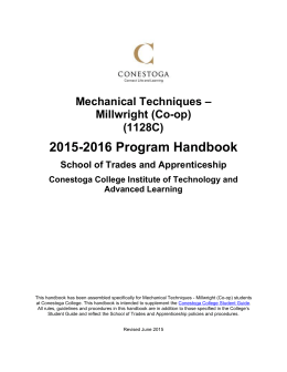 20152016 program handbook powerline technician coop