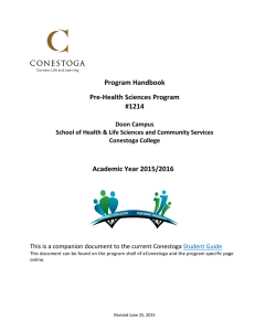 Program Handbook Pre-Health Sciences Program #1214