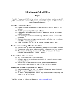 MPA Student Code of Ethics