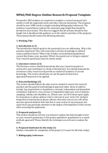 MPhil/PhD Degree Outline Research Proposal Template