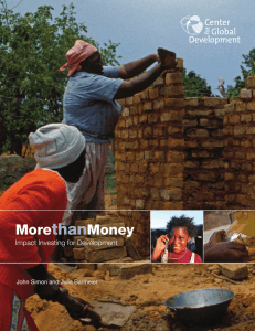 than More Money Impact Investing for Development