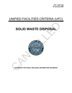 CANCELLED SOLID WASTE DISPOSAL  UNIFIED FACILITIES CRITERIA (UFC)