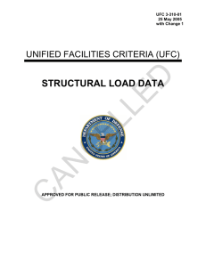 CANCELLED STRUCTURAL LOAD DATA  UNIFIED FACILITIES CRITERIA (UFC)