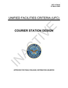 INACTIVE  UNIFIED FACILITIES CRITERIA (UFC) COURIER STATION DESIGN