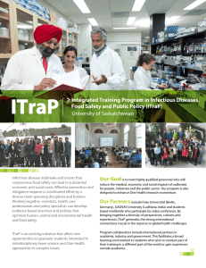 ITraP University of Saskatchewan Integrated Training Program in Infectious Diseases,