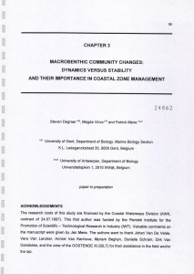 24852 CHAPTER MACROBENTHIC  COMMUNITY VERSUS STABILITY