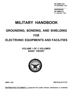 MILITARY HANDBOOK GROUNDING, BONDING, AND SHIELDING FOR ELECTRONIC EQUIPMENTS AND FACILITIES