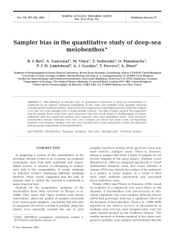 Sampler bias in the quantitative study of  deep-sea meiobenthos *