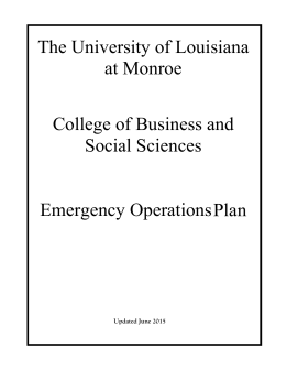 The University of Louisiana at Monroe  College of Business and
