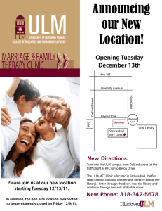 ULM Announcing our New Location!
