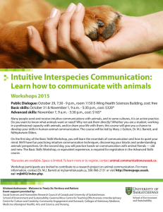 Intuitive Interspecies Communication: Learn how to communicate with animals