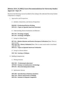 [Motion 2014_10_M02] Course Recommendations for University Studies  Approval—Sept. 29