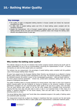 16.- Bathing Water Quality Key message  ƒ
