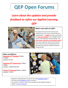 QEP Open Forums  Learn about the updates and provide  feedback to refine our Applied Learning  QEP