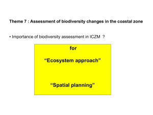"for  ""Ecosystem approach"" ""Spatial planning"""