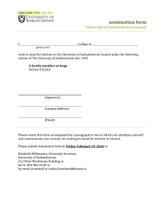 nomination form University of Saskatchewan Council