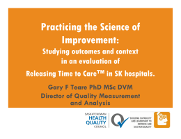 Practicing the Science of Improvement: Studying outcomes and context in an evaluation of