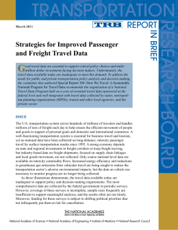 TRANSPORTATION RESEARCH G REPORT