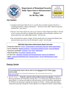Department of Homeland Security Daily Open Source Infrastructure Report for 08 May 2006