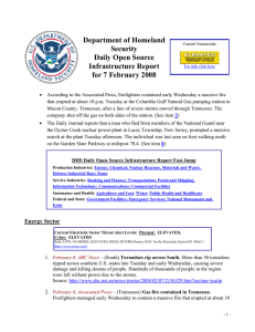 Department of Homeland  Security Daily Open Source