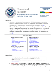 Homeland Security Daily Open Source Infrastructure Report for 18 June 2009