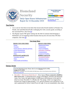 Homeland Security Daily Open Source Infrastructure Report for 16 December 2010